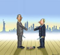 Obama und Putin in New York